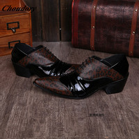 2017 Zapatos Hombre Italian Shoe Brands Leather Lace Up Mens Smoking Slippers Dress Loafers Closed Toe