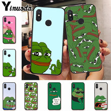 Ynuoda Cute Frog Meme Colorful Phone Accessories Case for xiaomi mi 8se 6 note2 note3 redmi 5 plus note5 cover(China)