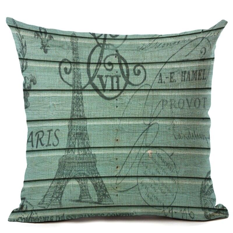 Eiffelova věž tištěné bavlněné povlečení na polštář dekorativní polštáře povlak na polštář použití pro domácí pohovku autoservis Almofadas Cojines