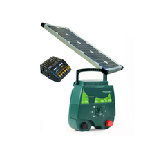2J Solar Power Electric Fence Charger + Solar Panel + Solar Power Controller