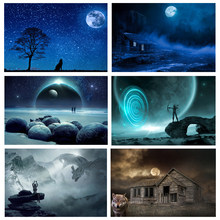 Round Drill 5D DIY Diamond Painting moon night Scenery Diamond Embroidery Cross Stitch Home Decor Gift Painting Decoration Gift(China)