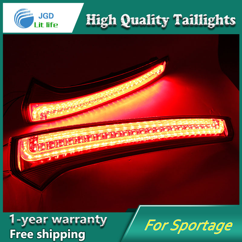 Car Styling tail lights LED Brake Lights Warning Lights case For KIA Sportage cerato sportageR Ceed 2007-2014 Taillights xuankun off road motorcycle modified led taillights turn lights brake lights license plate tail lighthouse