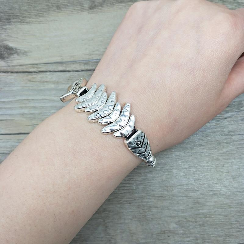 Silver Bead Vintage Fish Bracelet