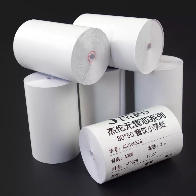 US $9 9 |Thermal Paper 57mm x 30mm , no core , Carton of 64 Rolls, Cash  Register POS Paper -in Cash Register Paper from Office & School Supplies on