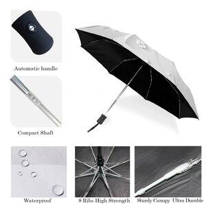 Image 3 - Guarda chuva de sol 3d dobrável, guarda chuva branco com 3 dobras, automático, anti uv para viagem ao ar livre