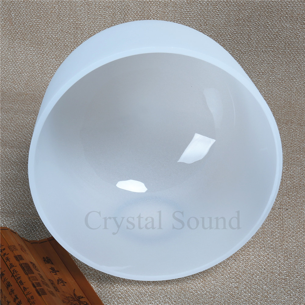 Buy 8 Inch 20CM D # Sexual 432hz PERFECT Pitch Note Chakra Quartz Crystal Singing Bowl