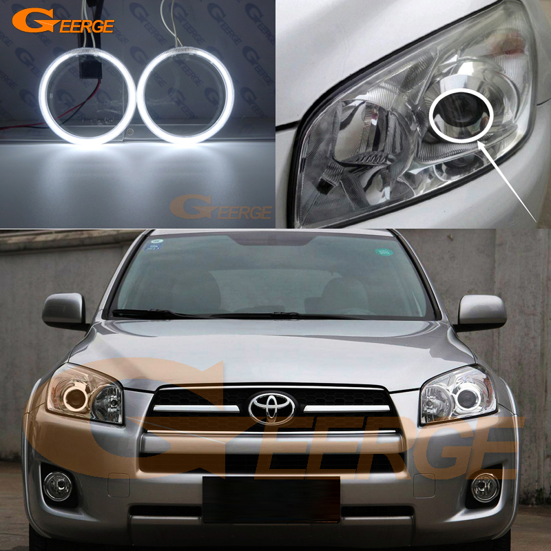 цена на For Toyota RAV4 2009 2010 2011 2012 PROJECTOR HEADLIGHT Excellent Ultra bright illumination CCFL Angel Eyes kit Halo Ring