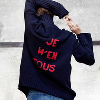 Thick turtleneck sweater and pullover jumper oversize wool sweater women winter 2019 warm sweater knitted letter knitwear blue