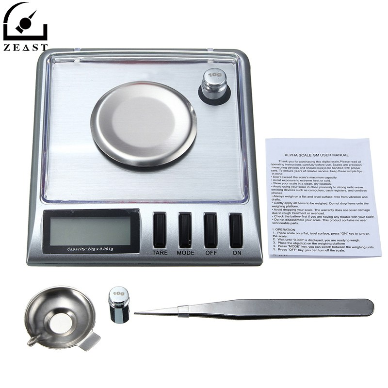 Digital Pocke t Scale 20g 0.001g Electronic Stainless Steel Jewelry Gram g/o z/o zt/dwt/ct/gn with Salver Tweezer Weight автомагнитола swat mex 1023ubg