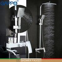 GAPPO shower Faucet brass shower faucets griferia bathroom rainfall shower set shower kit mixer waterfall faucet