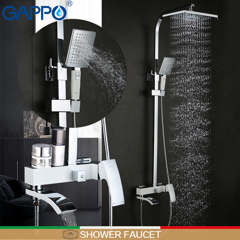 GAPPO shower Faucet brass shower faucets griferia bathroom rainfall shower set shower kit mixer waterfall faucet стоимость