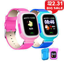 Q90 Children Watch SOS Anti-lost Clock Wifi SIM Card Baby Smartwatch Kids Smart Watch GPS Positioning Alarm Clock PK Q80 Q50 Q60(China)