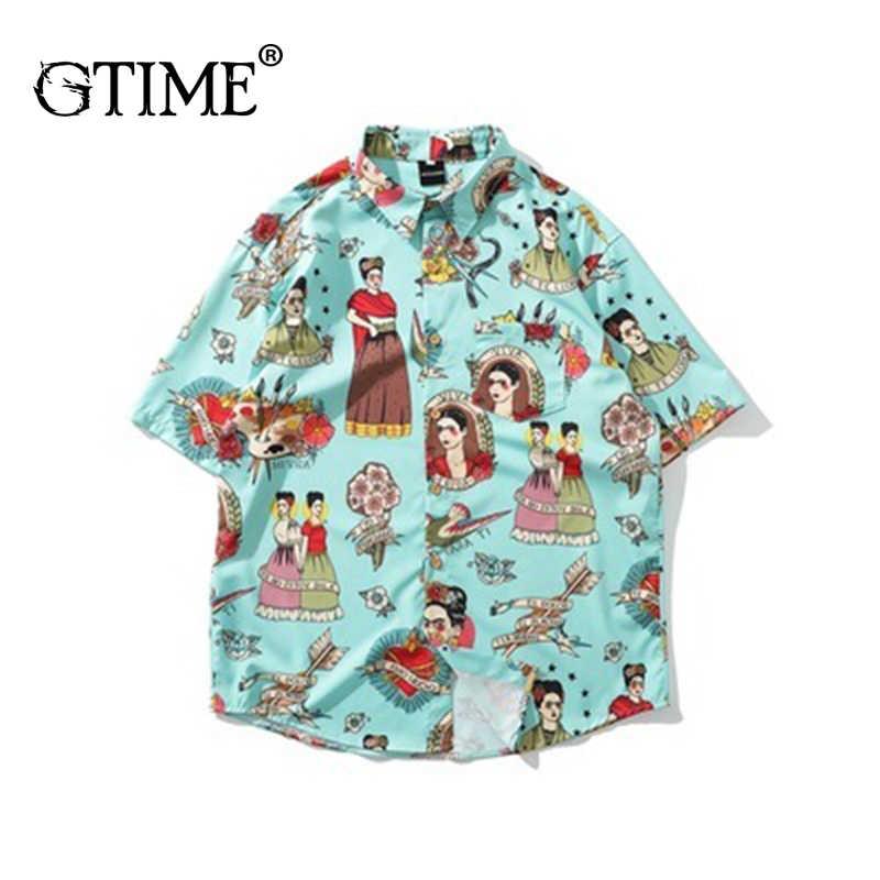 Дропшиппинг Gtime/Летняя футболка с коротким рукавом Винтаж Цветная рубашка Повседневный для шутника модные удобные Шорты, рубашка MCYR070