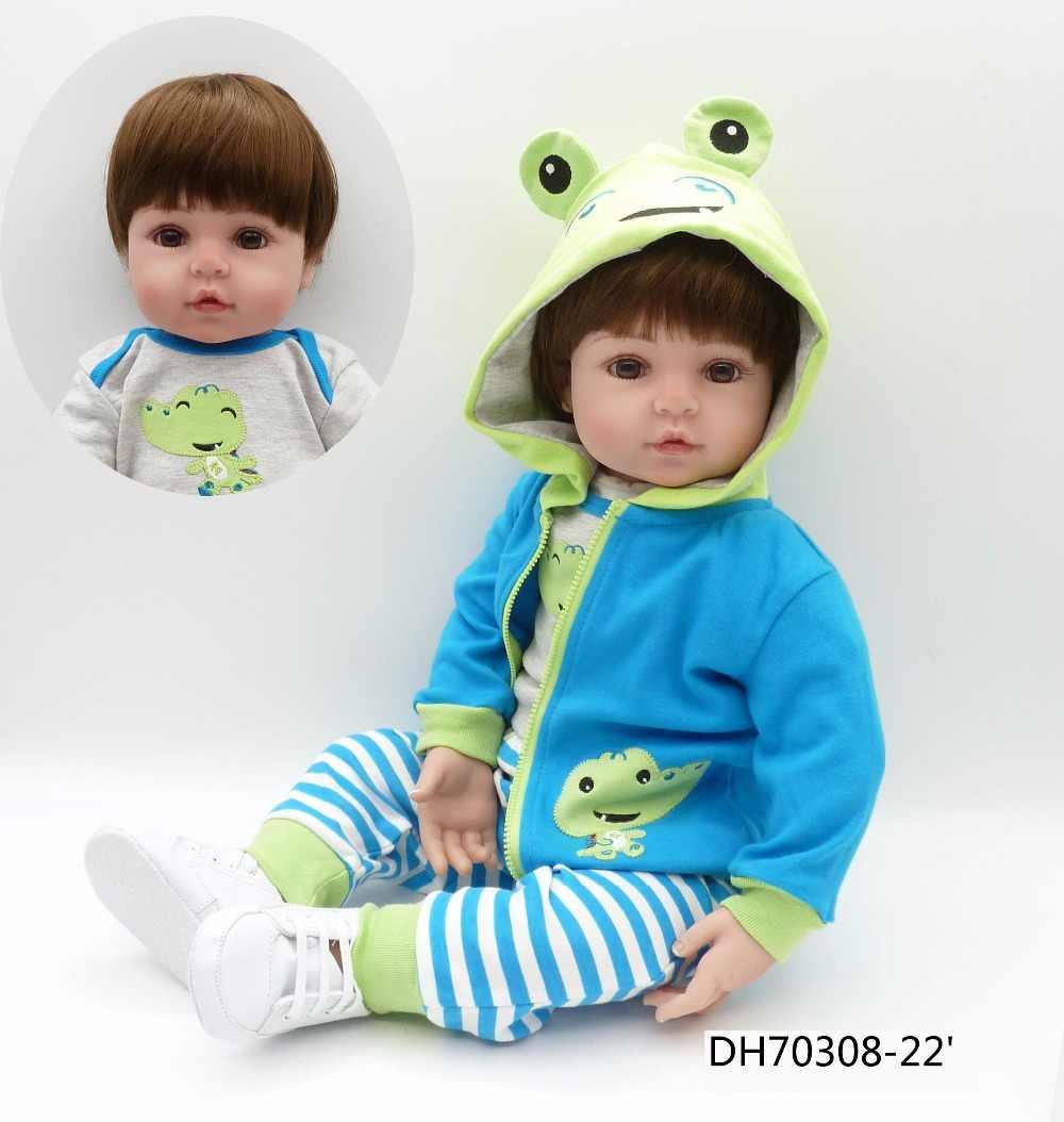 Tamanho grande 60 CM 6-9Monthbaby tamanho lifelike renascer bonecas de silicone bebês moda princesa presente para as meninas da criança bebe bonecas de presente