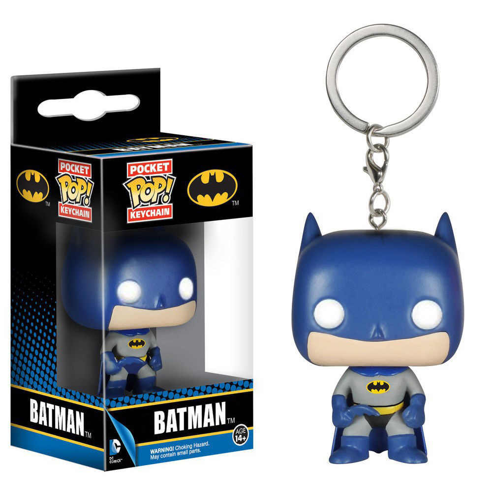 Pocket Pop Keychain Official DC Comics Batman Q Model Bobble Head Collectible Action Figure Toys For Children Christmas Gift
