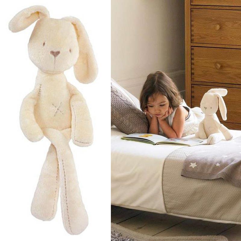 Hot Sale Cute Bunny Baby Soft Plush Mini Stuffed Animals Kids Baby Smooth Obedient Sleeping Rabbit Baby Pillow