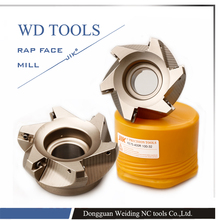 RAP 300R 50-22-4T 75 Degree High Positive Face Mill Cutting Diameter For APMT1135 inserts