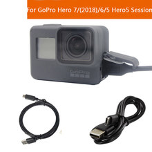 for Gopro Hero 7/6/5 Charging USB Hero5 Session Cable type-c Sync Data USB Cable for Go Pro 2018 Action Sport Camera Accessories(China)