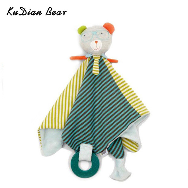 KUDIAN BEAR Newborn Baby Toys Infant Soothe Towel Newborn Baby Gift To Soothe Towel Educational Plush Toys BYC034 PT49