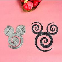 Lovely Mickey Minnie 활 tail 컷 을, 사망 디스크리트 love heart toy doll 스크랩북 brads card paper craft 홈 장식 엠보싱 stencil cutter(China)