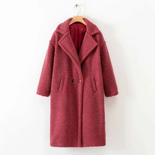 Solid Faux Fur Teddy Coats Women High Street Winter Warm And Jackets Ladies Lamb