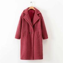 цена на Solid Faux Fur Teddy Coats Women High Street Winter Warm Faux Fur Coats And Jackets Ladies Lamb Fur Teddy Jackets