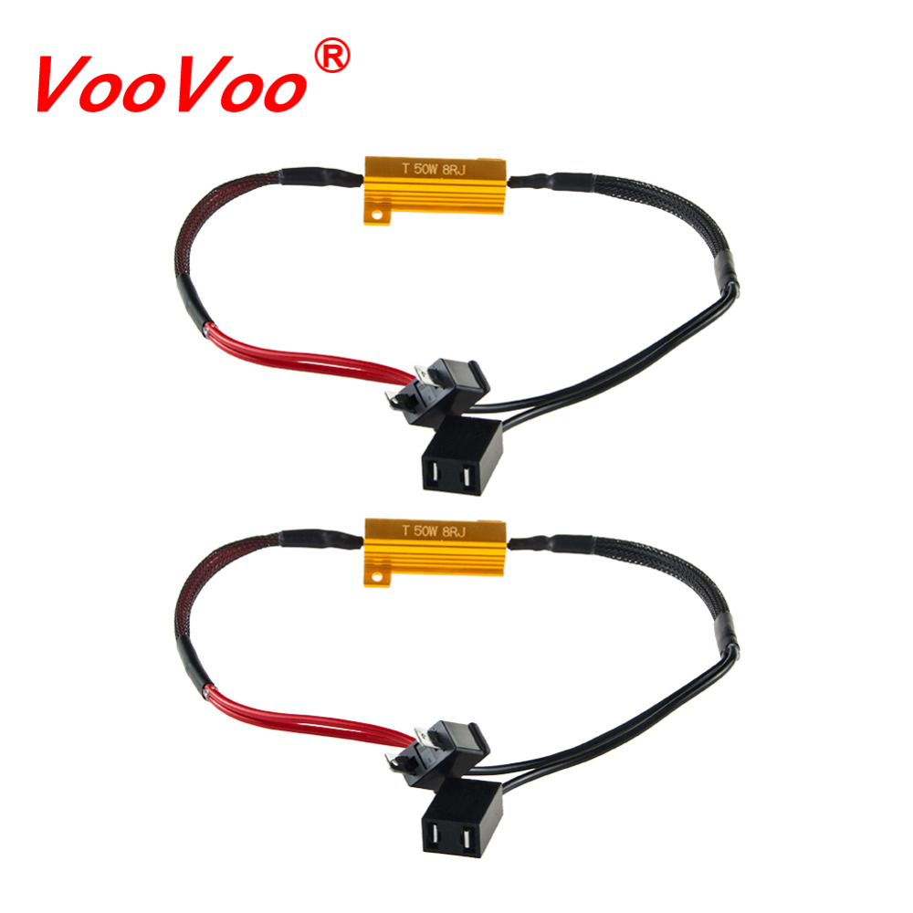 hight resolution of voovoo led bulb decoder resistor canbus wire harness adapter 50w 6 8ohm 9 14v for h4 h7 h8 h9 h11 hb3 hb4 h13 car headlights