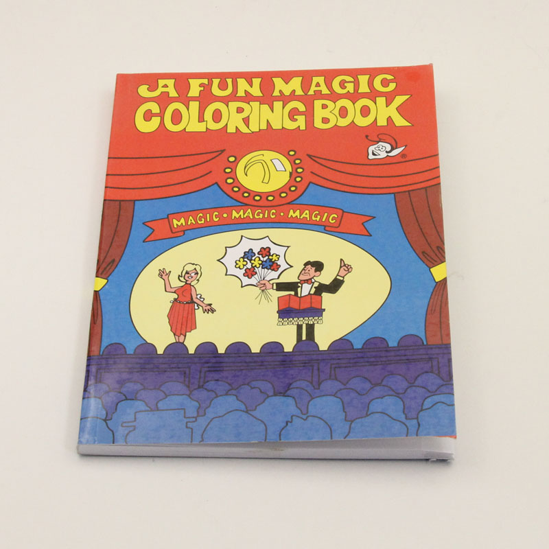 A Fun Magic Coloring Book Red Small Size Tricks Stage Props Card Accessories