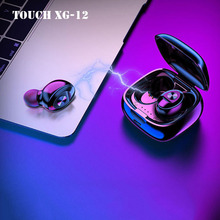 XG12 Touch Bluetooth Earphones TWS Dual-pass 5.0 Stereo Earbuds Auto-reconnect Wireless Headset With Mini Charging Pk i10 i20
