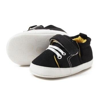 fa1e18299 Nuevos zapatos deportivos para bebé recién nacido niño niña primeros  caminantes infantiles niño suave suela zapatillas de lona