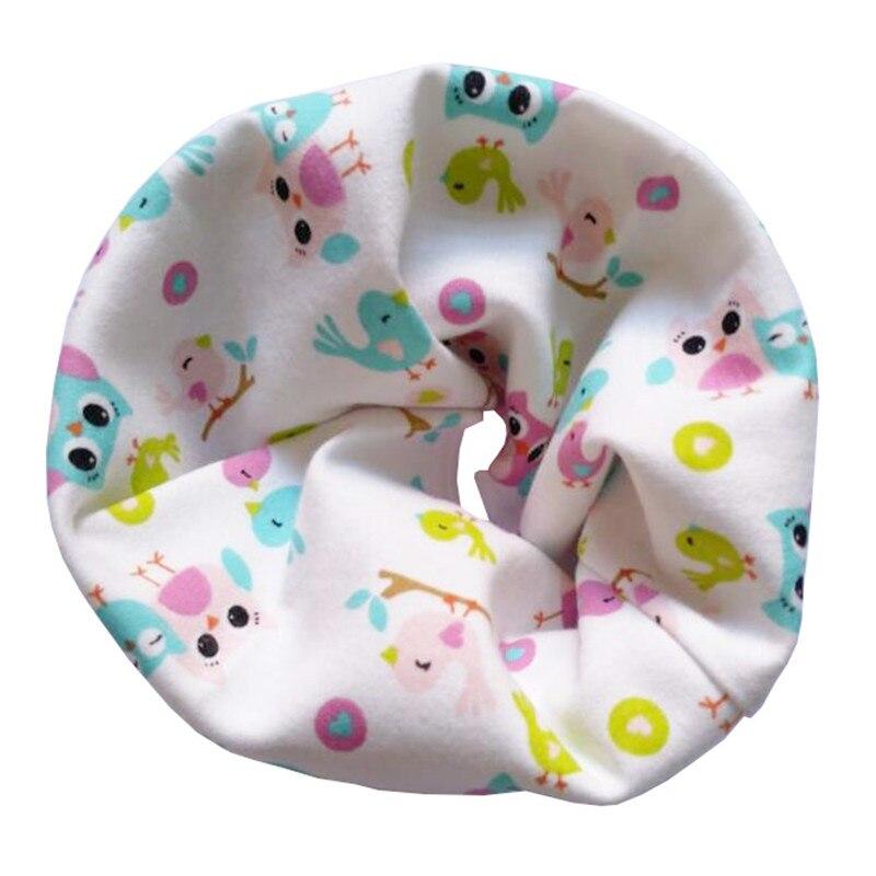 Новинка; Модный хлопковый шарф для маленьких девочек; осенне-зимний шарф для маленьких мальчиков; Детский шарф с круглым вырезом; Детские шарфы; волшебный шейный платок - Цвет: Owls