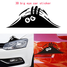Funny Car Sticker 3D Eyes Peeking Monster Voyeur Car Window Decal Stickers Car Accessories(China)