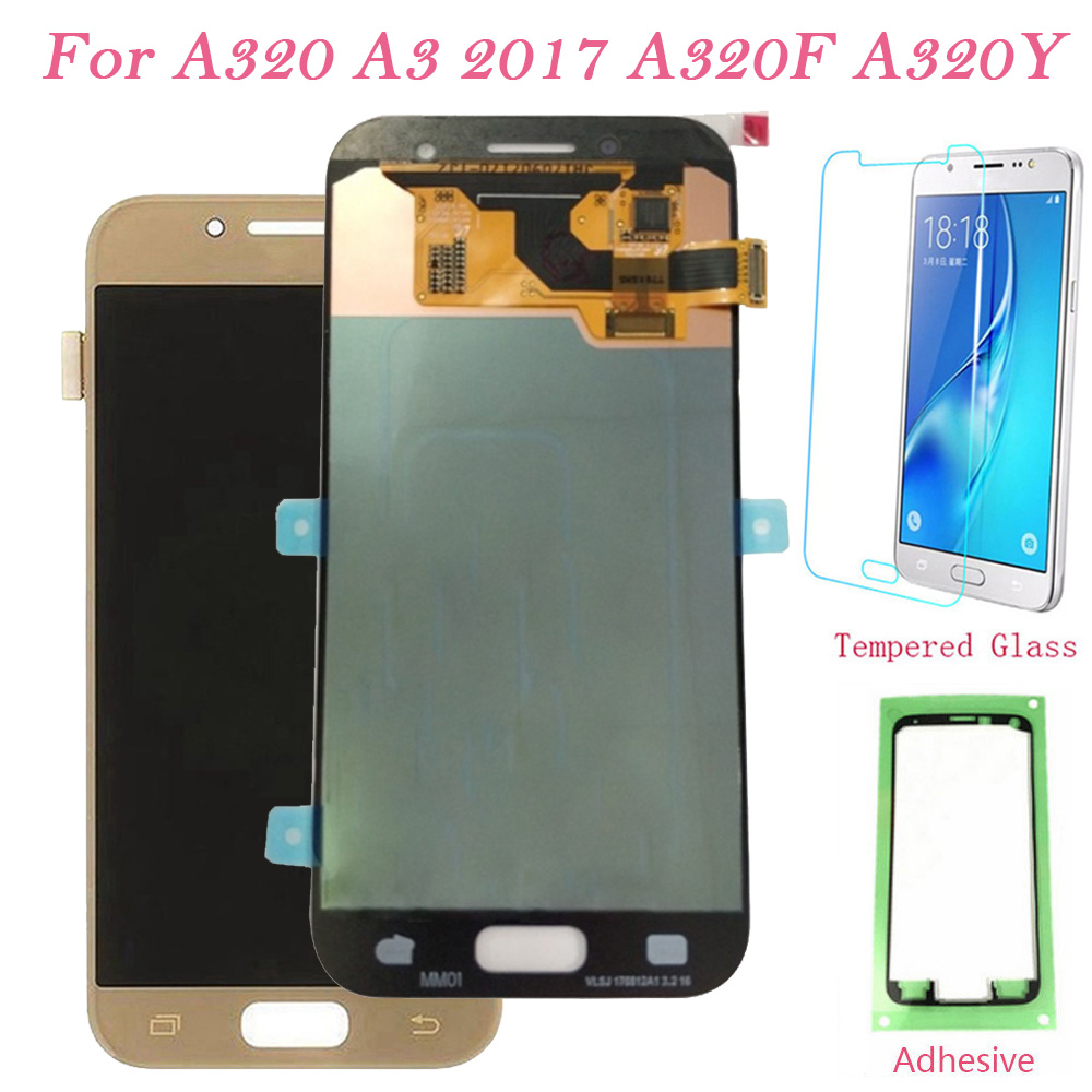 Test LCD Screen For Samsung Galaxy A320 A320Y Touch Screen Digitizer LCD Display For Samsung A3 2017 A320F Assembly Super AMOLEDTest LCD Screen For Samsung Galaxy A320 A320Y Touch Screen Digitizer LCD Display For Samsung A3 2017 A320F Assembly Super AMOLED