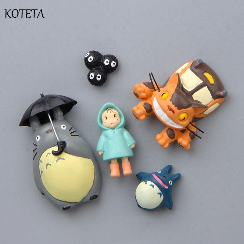 Koteta Japanese Anime Cartoon TOTORO Bus Mei Model Resin 3D Fridge Magnet Decor for Kids