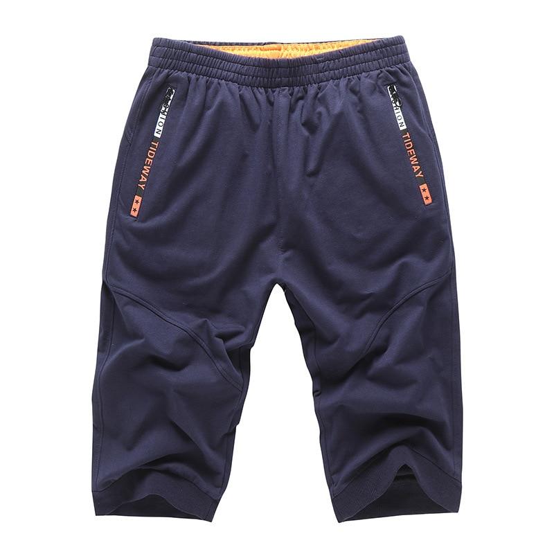 Asiatique Homme Coton Tricot Survêtement Bas Pantacourt grey Hommes Court Pantalon dark Taille De Xxxxxl Black Crayon Blue Sept Pantalons Mâle 1d0xqwEC