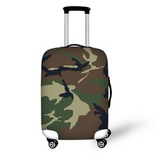 Army Camouflage  Travel Accessories Suitcase Protective Covers 18-32 Inch Elastic Luggage Dust Cover Case Stretchable