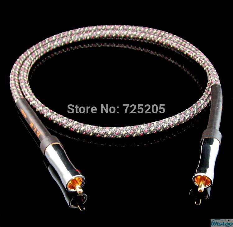 IWISTAO HIFI Cable American AQ HD6-A BNC Coaxial Silver-plated 1m 1.5m DIY Free Shipping 95 850 160m150 rf cable assemblies hd bnc sr pl hd bnc sr pl mr li