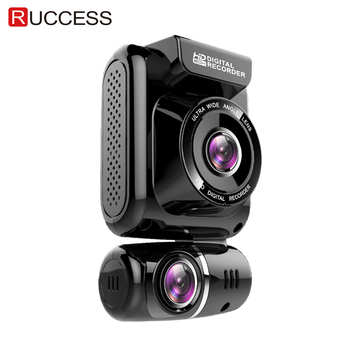 цена на Ruccess GPS CAR DVR Dual Lens Dash Cam Full HD 1920*1080P Front and Rear Car Camera Recorder for Car Night Vision G-sensor WDR