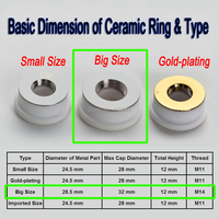 1 Piece Ceramic Ring for Optical Fiber Laser Cutting Machine 28.5X32mm Precitec KT B2 CON for Most Popular Nozzle Holder