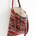 2017 Original Handmade Cotton and Linen Shoulder Bag Vintage Reusable Shoping Bag beach bag National Wind Carrying Female Bag
