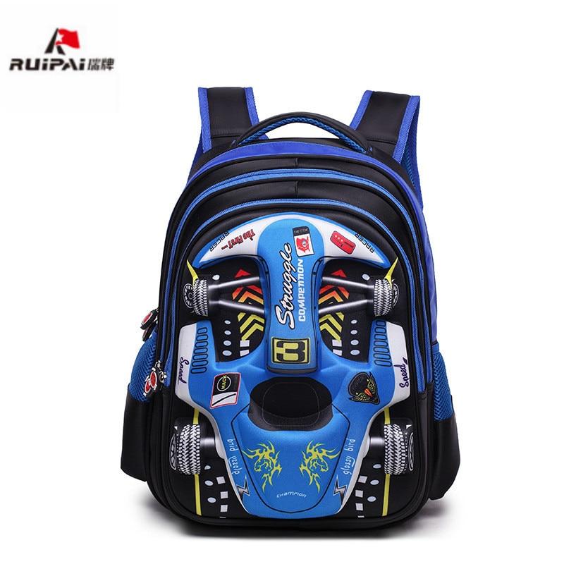Waterproof primary school Backpacks Kids 3D Car School bags boys kindergarten Backpacks Schoolbags kids Satchel Mochila
