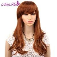 Amir lange Synthetische haar Vogue Frauen Wellenförmige Schicht Cosplay Perücke Kostüm-partei-volle Perücken Reale Natürliche Haarteile