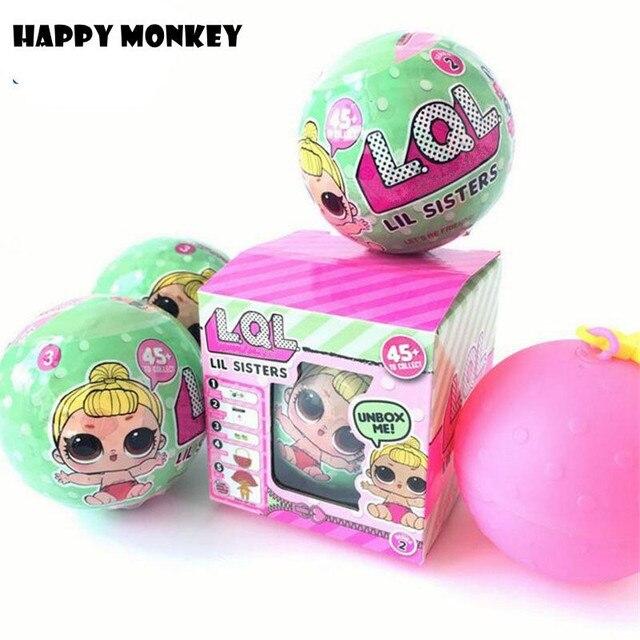 7 см series2 с функцией платье изменить lql LOL Куклы Детские разорвать изменение цвета яйцо кукла ball фигурку игрушки для детей подарок девушке