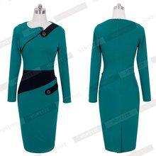 Black Dress Tunic Women Formal Work dress