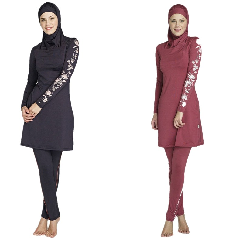Full Coverage Modest Muslim Swimwear Islamic Swimsuit For Women Arab Beach Wear Muslim Hijab Plus Size Full Piece Swimsuits promoting social change in the arab gulf