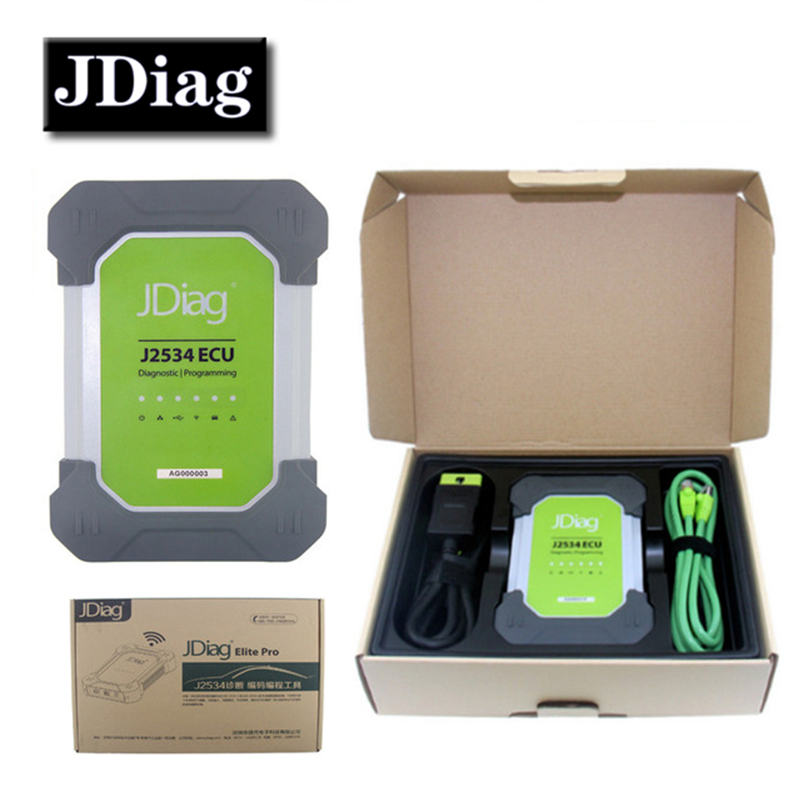 JDiag Elite II Pro Original Diagnostic and ECU Programming Tool JDiag Elite II With Full Adapters JDiag J2534 DHL Free new original a62p with free dhl