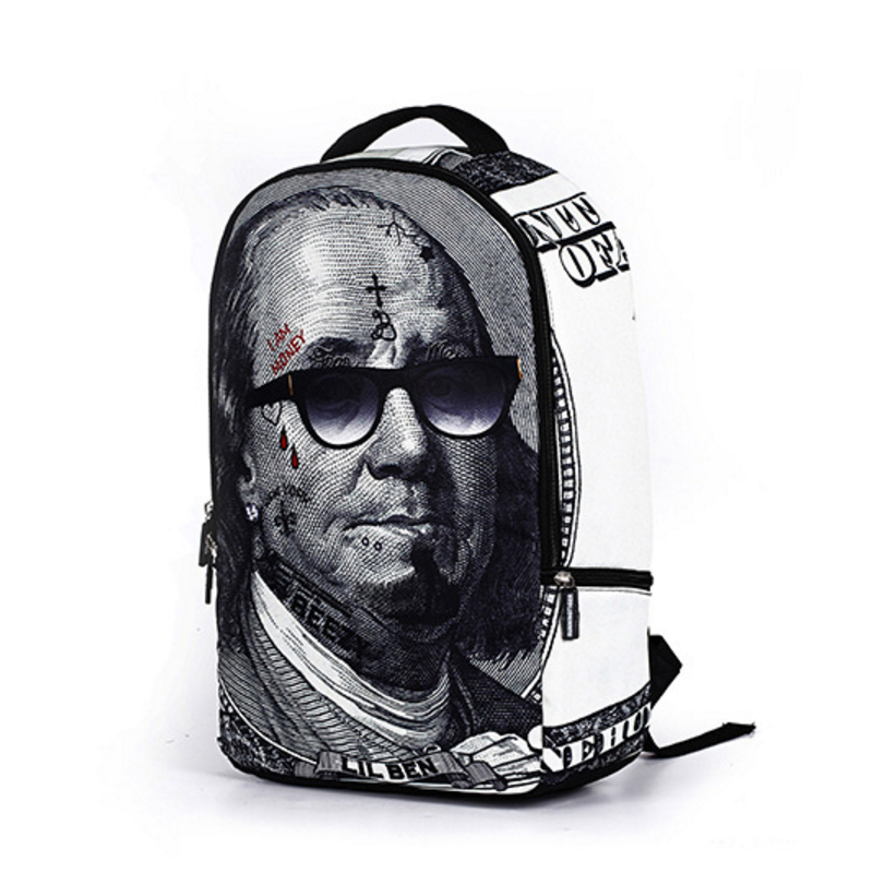 Buyuwant Canvas Backpack BW05-BP-Yxjnbb Junior High School Student Bag US Dollar Teenager Girls Mochilas Backpack Male Backpack
