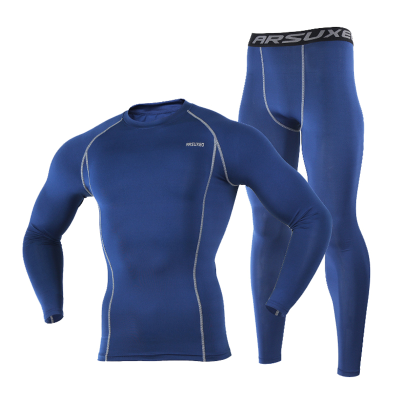 Hot Sale Men Full Sleeve Shirts Jersey Set Winter Sports Cycling Base Layers Skin-friendly Quick Dry Thermal Underwear