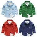YN-821, winter children boys shirts, corduroy plus velvet thick shirt