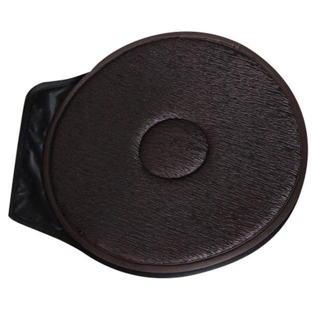 Non Slip Car Seat Revolving Rotating Cushion Memory Swivel Foam Mobility Aid Seat Cushion In Chair Tie On Pad Dark Brown